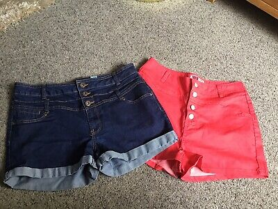 2 X Pairs Of Ladies Summer Shorts - Size 14 Holidays Summertime