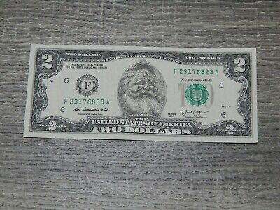 The Santa Claus Dollar Bill Real U.S. $2 Dollar Bill Money Santa Dollar NEW