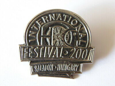 Harley-Davidson Hd Pins Badge Collector Hog Festival 2001 Balaton Hungary