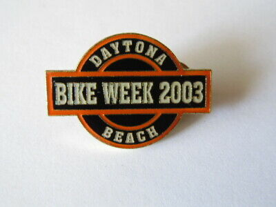 Harley-Davidson Pins Badge Collector Daytona Beach Bike Week 2003