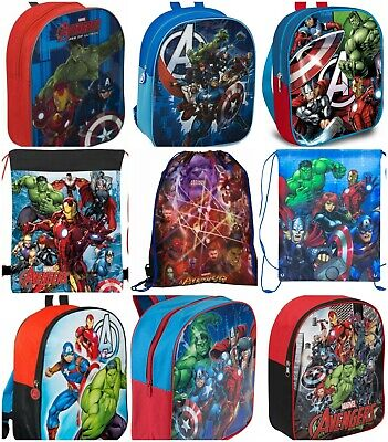 Marvel Avengers Kids Children Boys School Travel Rucksack Backpack