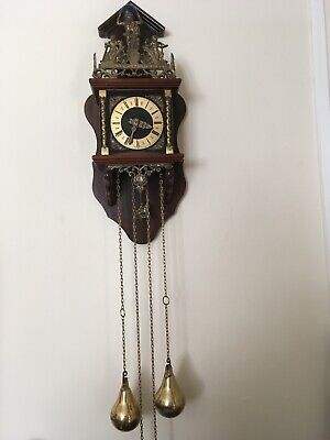 Medium Size Dutch Wall Clock With Weights - Working (6) New Price reduction
