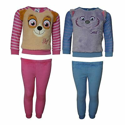 Girls RH2031 Paw Patrol Long Sleeve Soft Fleece Pyjama Set Size : 3-6 Years
