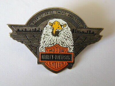 Harley Davidson Pins Badge Collector Hd Born Of Pride Sweat And Steel