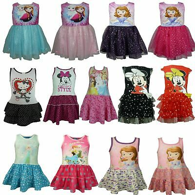 Girls Disney Princess Sofia Frozen Minnie Mouse Peppa Pig Hello Kitty Dress