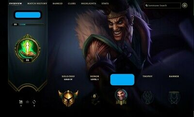 💎 EUW League  of legends Gold 4 account / 70%+ winrate / LoL💎