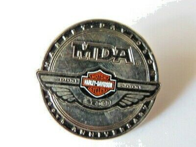 HARLEY DAVIDSON PINS BADGE COLLECTOR MDA 1903 2009 100th ANNIVERSARY