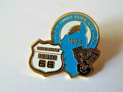 Harley Davidson Pins Hd Badge Collector Restaurant Route 66 Corse 1994
