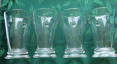 La Rochere Set Of 4, 11.5-ounce Napoleon Bee French Glasses Musees Paris France