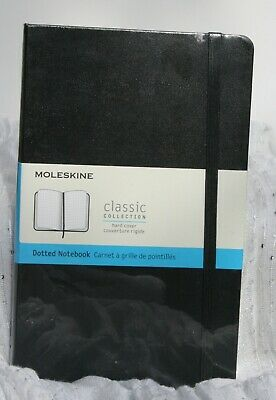 Moleskine Dotted Notebook BlacK sOFT Cover Dot Grid Layout 13x21cm 400 Pages New