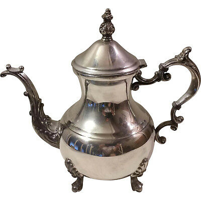 Antique Large Silver Hot Water / Teapot 1883 Fb Rogers Coffee Tea Pot Kettle