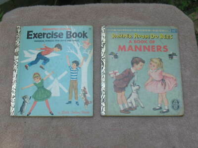 2 Vintage Little Golden Books ~ ROMPER ROOM DO BEES A BOOK OF MANNERS, EXERCISE