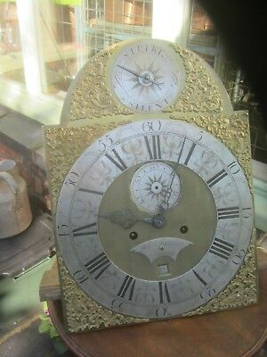 Longcase Face And Movement By  William Sharplin London 12 X 16 1/2 1749 To 72