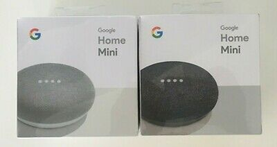 GOOGLE HOME MINI SMART SPEAKER GOOGLE ASSISTANT Charcoal Chalk NEW SEALED