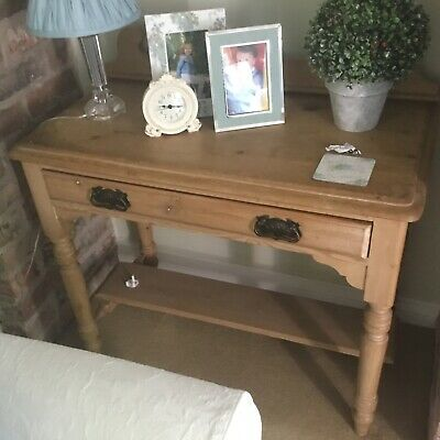 Antique stripped pine side table