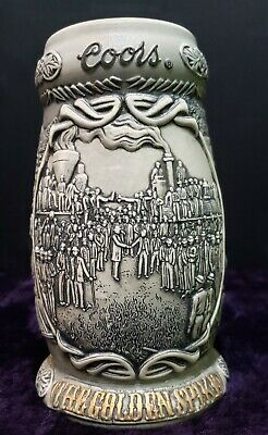 """""""The Golden Spike"""" Coors Collectable Stein (Train Design)"""