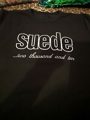 SUEDE comeback 2010 tour GIG T SHIRT rare pre owned men's L band music