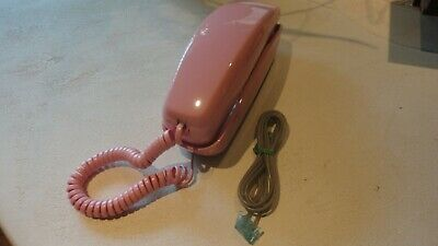 Western Electric Rose Pink Rotary Dial Trimline Desk Telephone - Free Shipping!