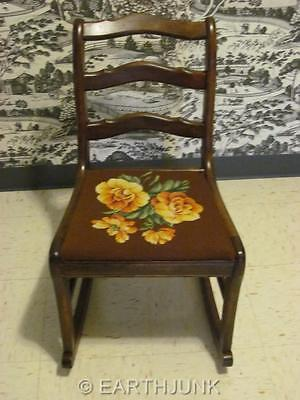 Duncan Phyfe Rocking Chair Rocker Tell City Chair Company Needlepoint Seat