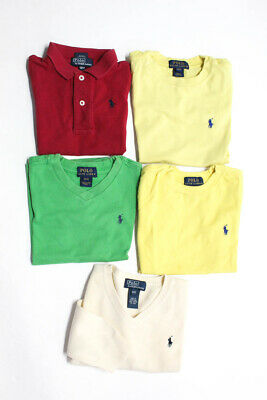 Polo Ralph Lauren Boys Shirts Tops Red Yellow Green Cotton Size 12M 3T Lot 4