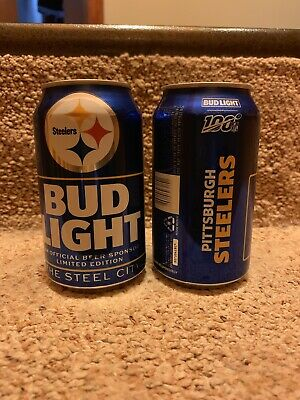 Bud light 2019 NFL Kickoff Pittsburgh Steelers Beer Can