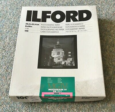 ILFORD MULTIGRADE IV FB FIBER PAPER 100 sheets 8 x 10