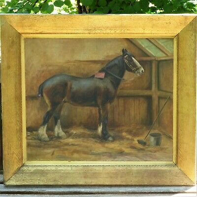Chestnut Horse in a Stall by May Burton