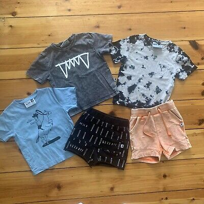Minti Boys Tees Tops Shorts Size 2 Excellent Condition