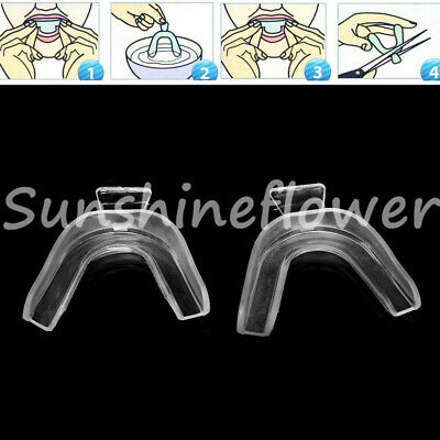 2 Pcs/Set Dental Teeth Whitening Model Teeth Trays Tooth Shield Duplex Silicone