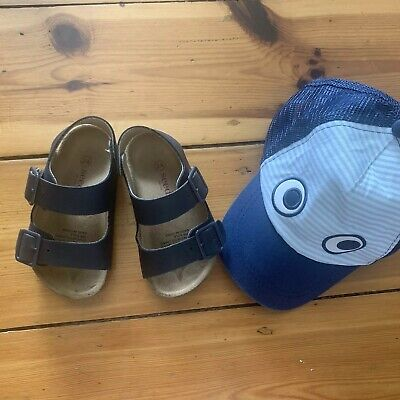 Seed Boys Sandals Shoes Hat Size 24 Excellent Condition