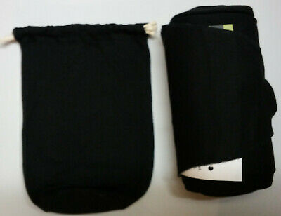 Authentic MOBY EVOLUTION Bamboo Baby Wrap-BLACK-So Soft. Great for newborns!
