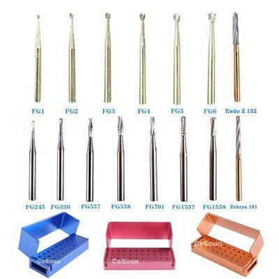 10Pcs FG Dental Carbide Burr Burs Drills FG 2/3/4/5/701/ 330/1558 for High Speed