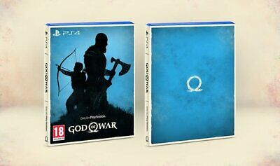 GOD OF WAR - UK PAL - Sony PS4 - 'ONLY ON PLAYSTATION' CARDBOARD SLEEVE - RARE!!