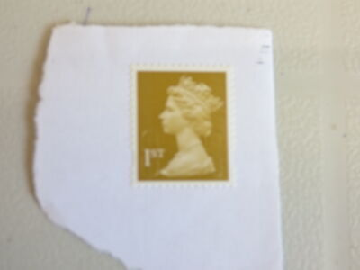 230+ GB/UK/British 1st Class UNFRANKED Stamps ON Paper, GOLD Security