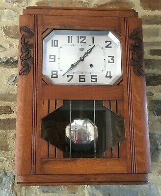ODO CLOCK VINTAGE French chime WALL clock ODO 1 rod 1 hammer Wanduhr