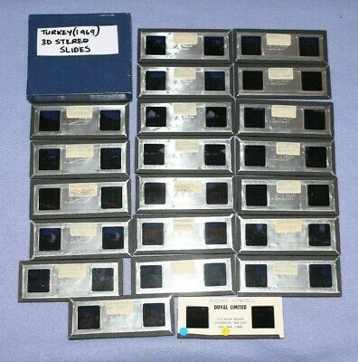 Lot of 21 Stereo Realist 3D Slides Turkey 1969- Ephasus,  Gallipolli, Personal