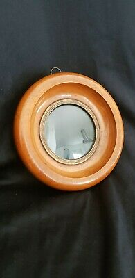 Antique 19th Century Fruitwood Or Walnut Circular Frame For Miniature...