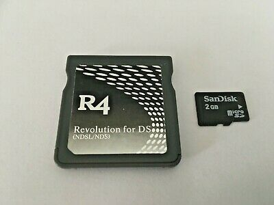 R4 CARD + 2GB Micro SD Card containing 40 Games -For Nintendo DS or DS Lite ONLY