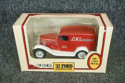 ERTL Metal Replica 1932 Ford Panel Ace Hardware Delivery Coin Bank