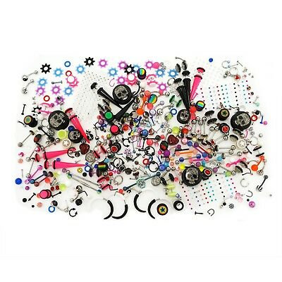 100 Value Packs of Body Piercing Jewelry - Mixed Assortment