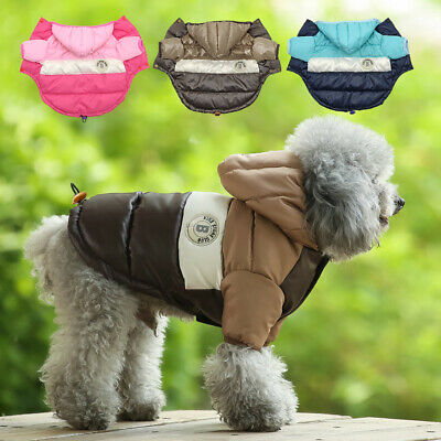 Small Dog Coats for Winter Chihuahua Clothes Waterproof Warm Pet Jacket Hoodie