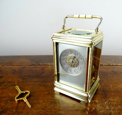 Antique French Grande Striking & Repeating Brass Carriage Clock by E Maurice Co