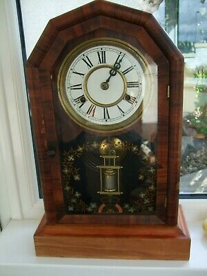 Nice Antique American (1879) Jerome & Co 8 Day Striking Mantle Clock