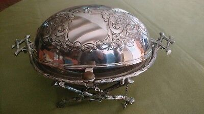 An English Victorian Silver-plated Revolving Breakfast Dish, Circa 1870's.