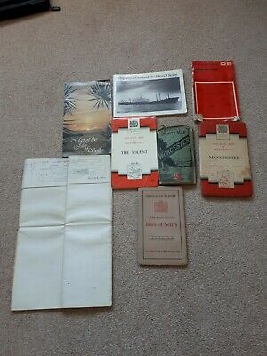 Joblot Of 7 Old Maps Antique Vintage Ord Survey Bacons