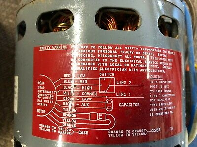 Fast HEATING AND AIR CONDITIONING Direct DRIVE Motor 1/2 HP HIGH EFFICIENCY NOS