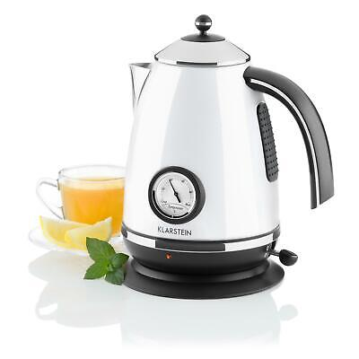 Cordless White 1.7 L Litre 2200W Fast Boil Electric Kettle Analog Thermometer