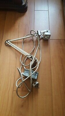 INDUSTRIAL ANGLEPOISE ARM LAMP LIGHT BENCH WALL Shabby chic vintage