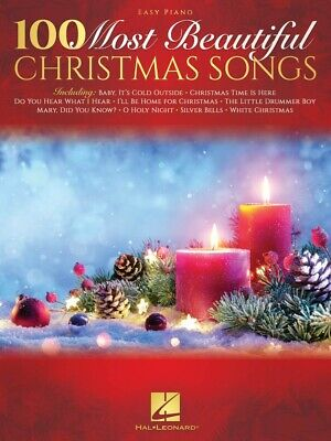 100 Most Beautiful Christmas Songs Sheet Music Easy Piano SongBook 000295230