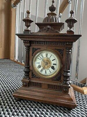 House Clearance Rare W E Watts Derby Mantel German Clock Shelf Key Up Wind